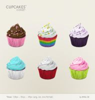cupcakes iconset by wbeiruti