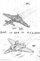 futuristic jet fighters by packie1984