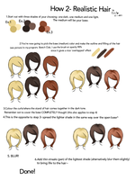 How 2 Realistic Hair by EllieLadyCorpse