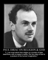 Paul Dirac on religion and God by fiskefyren