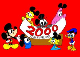 Thanks For 2000 pageviews by WaggonerCartoons