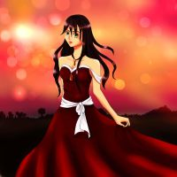 Emily-Dancing in the sunset by Lijuna