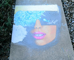 Sidewalk Chalk- The Fame by piratesgrrl