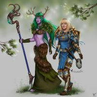 Commission: Syandria and Cassima by barn-swallow