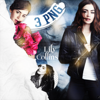 PNG Pack (113) Lily Collins by IremAkbas