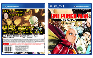 One Punch Man Game Fan Cover PS4 by ShardRaldevius