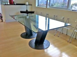 I-Beam Dining Table by ou8nrtist2