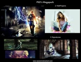 PSD MegaPack - LP's and Signs by rayizard