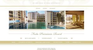 Festa Premium Resort Website by design-bg