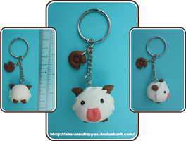 League of Legends - Kawaii Poro Keychain by Nko-ennekappao