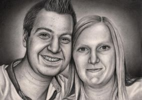 Private commision 'David Connelly and his fiance' by Pen-Tacular-Artist