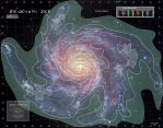 Star Wars Galaxy Map by chrischanaud