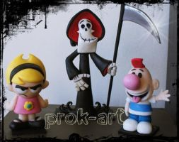 billy mandy y puro huesos by prok-art