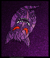 Stained Glass: Gengar by ChaosTearKitsune