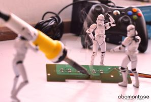 Stormtroopers working day by abomontage