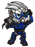 Garrus sticker by ZombieKaiju