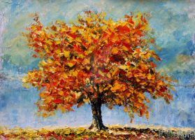 Autumn landscape palette knife painting available by wwwrybakowcom