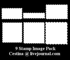 9 Stamp Shape Pack by cestina