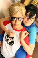 John + Dave Cosplay: piggyback by Maryru