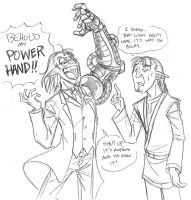 BEHOLD MY POWERHAND by medli20