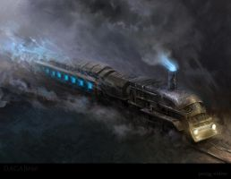 Ghost train by karola-j