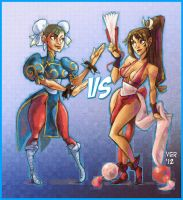 chun li vs mai by victorroa