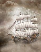 Cloud Ship by gatterwe