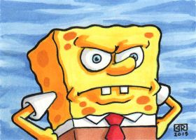 Sponge Bob Sketch Card by TheRigger