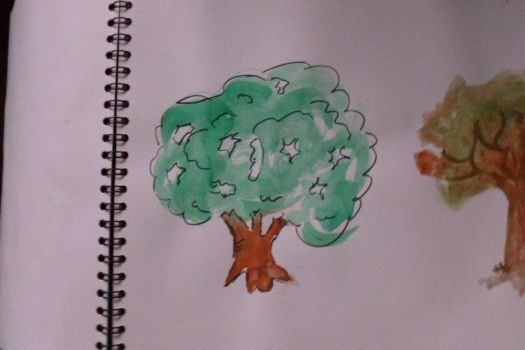 Tree - aquarell pencils by Stella-cat