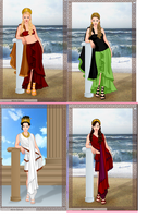 Female ocs  as Anicent Greeks by tmpoole96