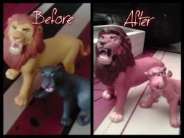 -Mohatu and Uru custom figures- [before and After] by Lady-Satra
