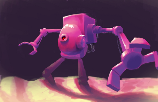 Pinkbot by MechaBuggy