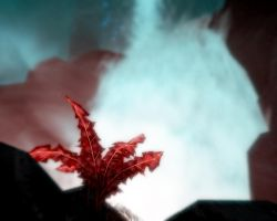 Skyrim screenshot: Crimson Nirnroot by z-zombiecat
