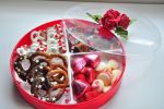Chocolate Pretzel Valentine's Day Platter by KimKTN