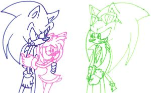 Blue sonic Pink amy Green Scourge by Kova360