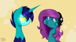 Wallpaper Cosmos X hyli: Silly face by hylidia