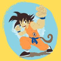 Young Son Goku by gkaiou