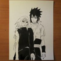 Sasuke and Sakura by Murkicide