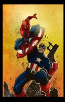 JoeyVazquez's Cap VS Spidey colors by Riazkhan by riazkhan