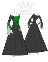Slytherin Deluxe Dress by AMR-Designs