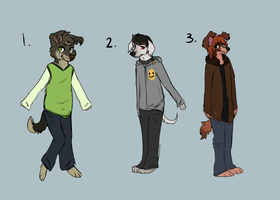 Anthro adoptables - Closed- by PointAdoptsforyou