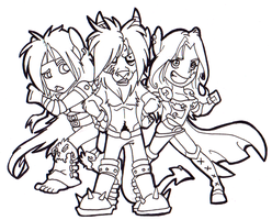Chibi Com : Blackjacks Angels by Hades-O-Bannon