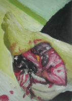 Foot Injury Oil paint by QuixoticouS