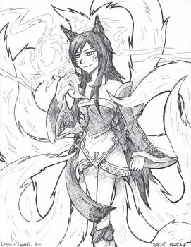 Ahri the Nine-tailed Fox by RegalClaw