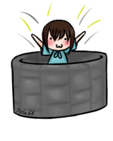 Jumping into a well by GriellaAnime