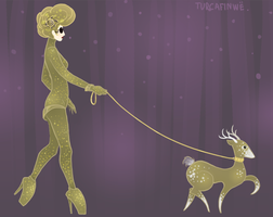 Gaga's little deer by TURCAFINWE