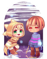 Monster Kid And Frisk by Dangaso