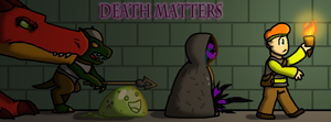 Cover Art for Death Matters by KittyMelodies