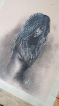 Charcoal sketch by natalielinaweaver
