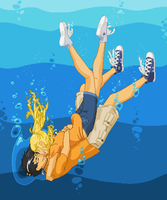 Percabeth-Under the Lake by MahouSakuraTenshi